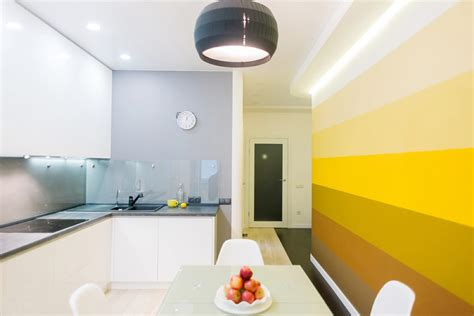 yellow accent kitchens   shine