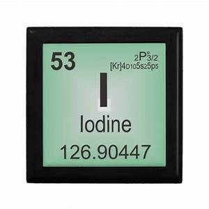 Iodine Individual Element of the Periodic Table Jewelry ...