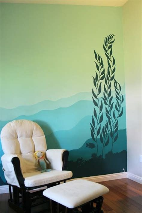 wall painting designs in blue colour 40 easy wall painting designs Simple