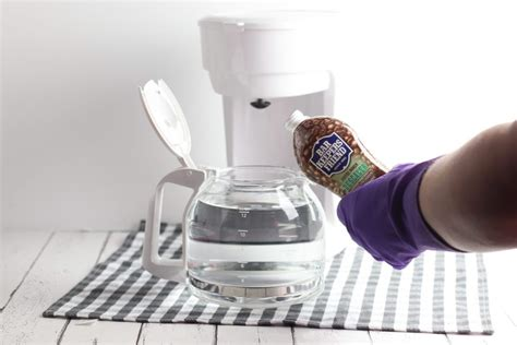 Vinegar can clean your coffee maker well if you simply run it through as you would water in a coffee brewing cycle. How to Descale and Clean a Coffee Maker Without Vinegar