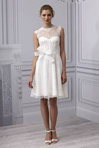 Casual short lace wedding dress with sashcherry marry for Casual lace wedding dress