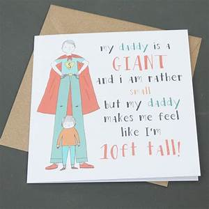 'daddy is a giant' father's day card by lou brown designs ...
