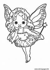 Wand Coloring Fairy Pages Holding Star Printable Tooth Lowgif sketch template