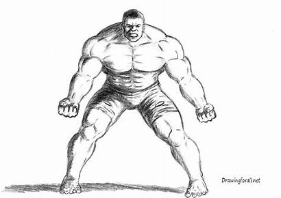 Draw Drawing Incredible Hulk Muscle Guy Characters