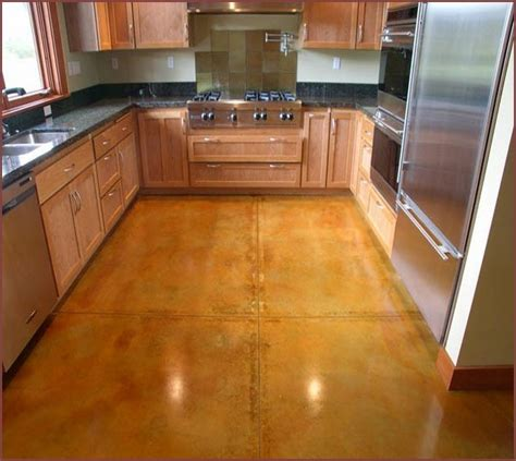 stained concrete kitchen floor stained concrete floors in modern kitchen home design ideas 5695