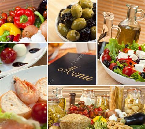 mediterranean cuisine menu healthy mediterranean food menu montage stock