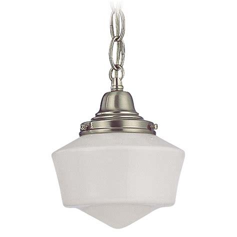 schoolhouse mini pendant light  chain  satin