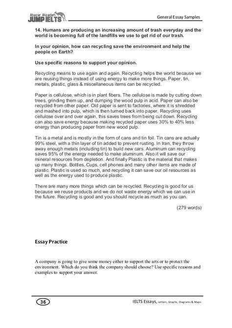 Ielts essay letter samples
