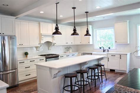 Kitchen Remodel {reveal} Love The Ceilings & Pendant Lights. Expanded Kitchen And