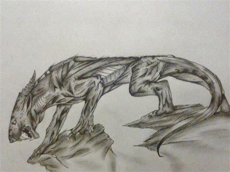 latest drawing creature   night  thewolfx