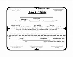 share stock certificate template download free premium With blank share certificate template free