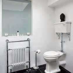 Bathroom Tile Ideas Black And White Classic White Bathroom With Black Floor Tiles Bathroom Decorating Housetohome Co Uk
