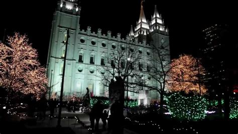 salt lake city temple square lights 2011