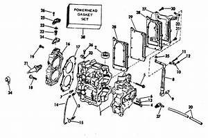 Evinrude Cylinder And Crankcase Parts For 1979 6hp 6904e