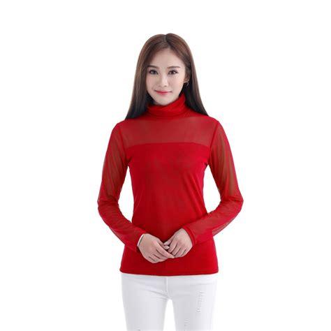 mesh blouse musilm see through sheer mesh sleeve t
