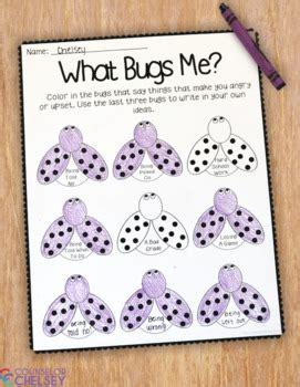 bugs  anger management worksheet  counselor