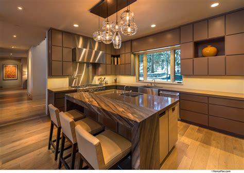 breakfast bar kitchen island home  lake tahoe california fresh palace