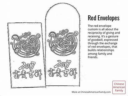 Coloring Envelopes Chinese Sheet Envelope Holidays