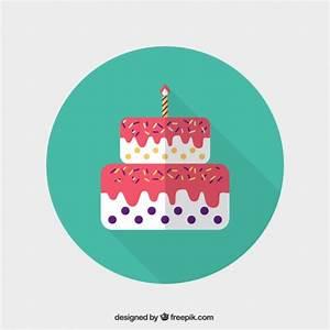 Birthday Cake Icon Free Vector   123Freevectors