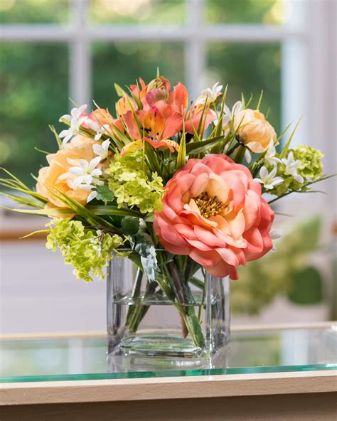 Vibrant Rose & Ranunculus Silk Flower Arrangement At