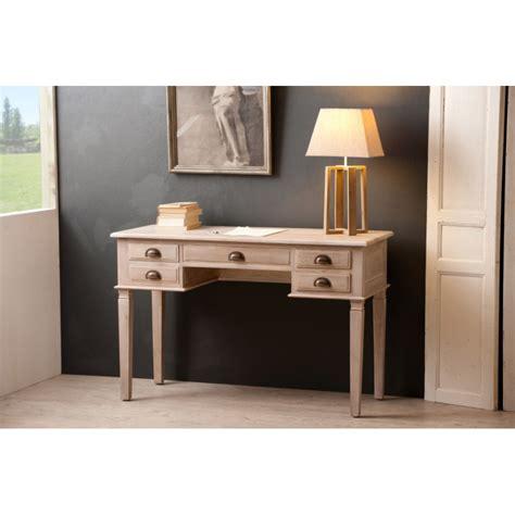 meuble tiroir bureau bureau 5 tiroirs teck blanchi meubles macabane meubles