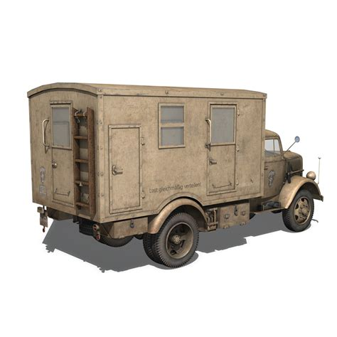 opel blitz opel blitz 3t truck with kofferaufbau 21 pzdiv 3d model