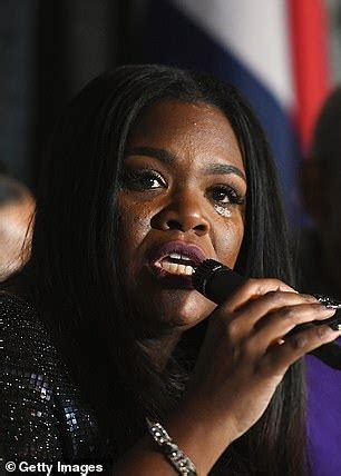 Newly-elected congresswoman Cori Bush is asked if her name ...