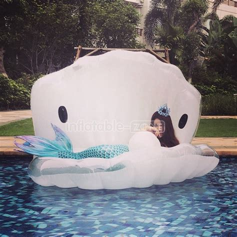 beautiful white shell swimming floaties swimming ring for