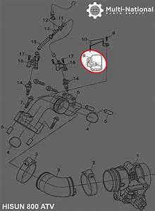 Intake Sensor - Atv  Utv  Hisun  400-800cc - Multi-national Part Supply