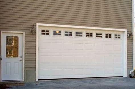 Great White Garage Door Design