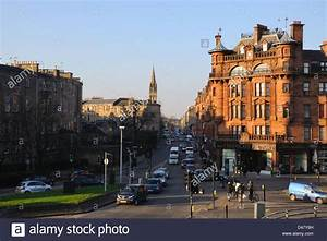 Woodlands Road at St Georges Cross in Glasgow Stock Photo ...