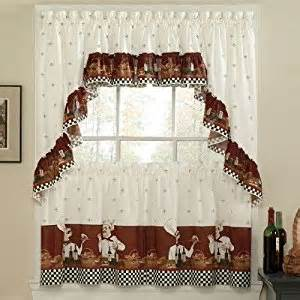 savory chefs kitchen curtains tailored 30 quot tiers everything else