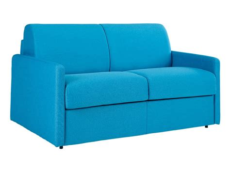 canapé 2 places convertible express tissu turquoise calife