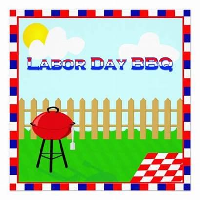 Labor Bbq Fun Party Invitation Patriotic Templates