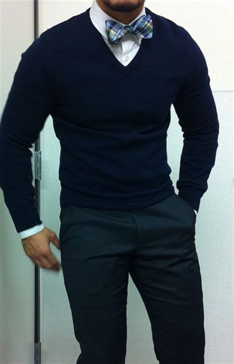 v neck sweater with tie bow tie v neck sweater looking