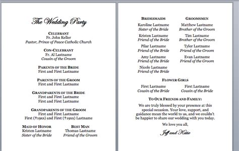 church wedding program spirals spatulas catholic wedding program