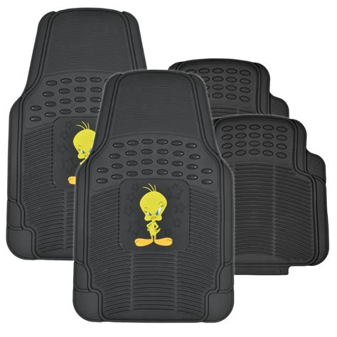 floor mats and seat covers tweety bird full gift set rubber floor mats seat covers autoshade car suv ebay