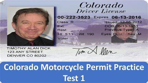 Colorado Motorcycle Permit Practice Test 1 Youtube