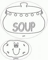 Soup Coloring Stone Pages Template Potato Colouring Pot Vegetable Printable Bowl Sheets Templates Crafts Dltk Print Milk Popular Drawing Chocolate sketch template