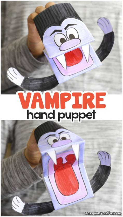 vampire puppet printable template easy peasy  fun