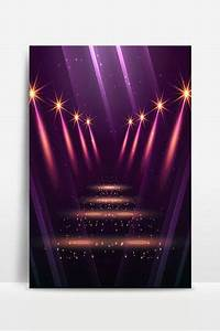 Beautiful Fashion Stage Light Effect Poster Background
