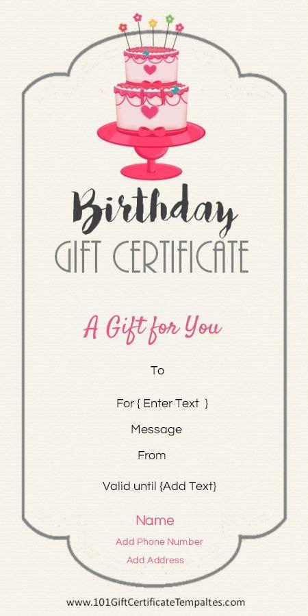 gift certificate templates ideas  pinterest