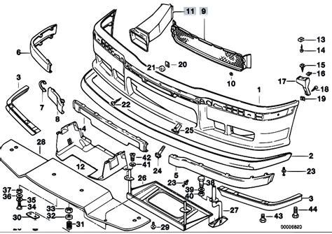 Bmw E30 Part Diagram by Original Parts For E36 M3 S50 Coupe Vehicle Trim Front