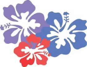 Cartoon Hawaiian Flowers Hibiscus