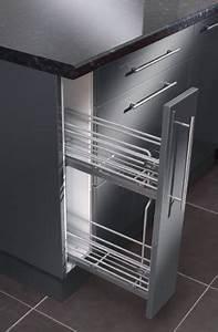Panier Coulissant Cuisine Brico Depot : rangement coulissant chrom avec glissi res lat rales ~ Dailycaller-alerts.com Idées de Décoration