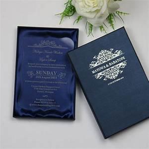 personalized luxury customized acrylic wedding invitation With wedding invitation cards box type