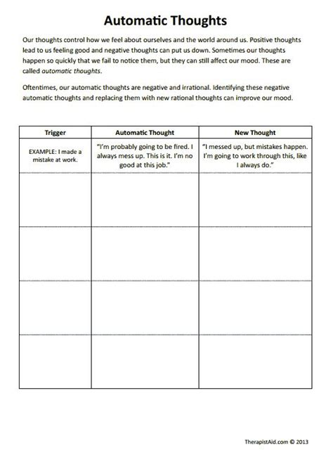 cbt worksheets automatic thoughts preview good