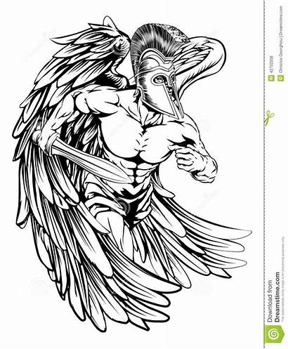 Angel Sword Warrior Tattoo Archangel Michael Drawing