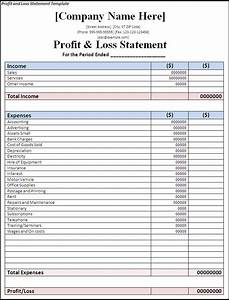 Profit and loss statement template free formats excel word for Profit and losses template