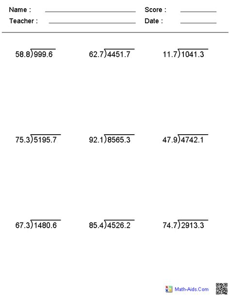 images  long division worksheets answer key